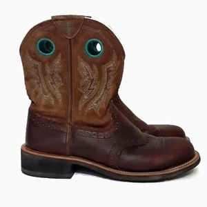 Ariat Fat Baby Boots Suede & Leather 11B